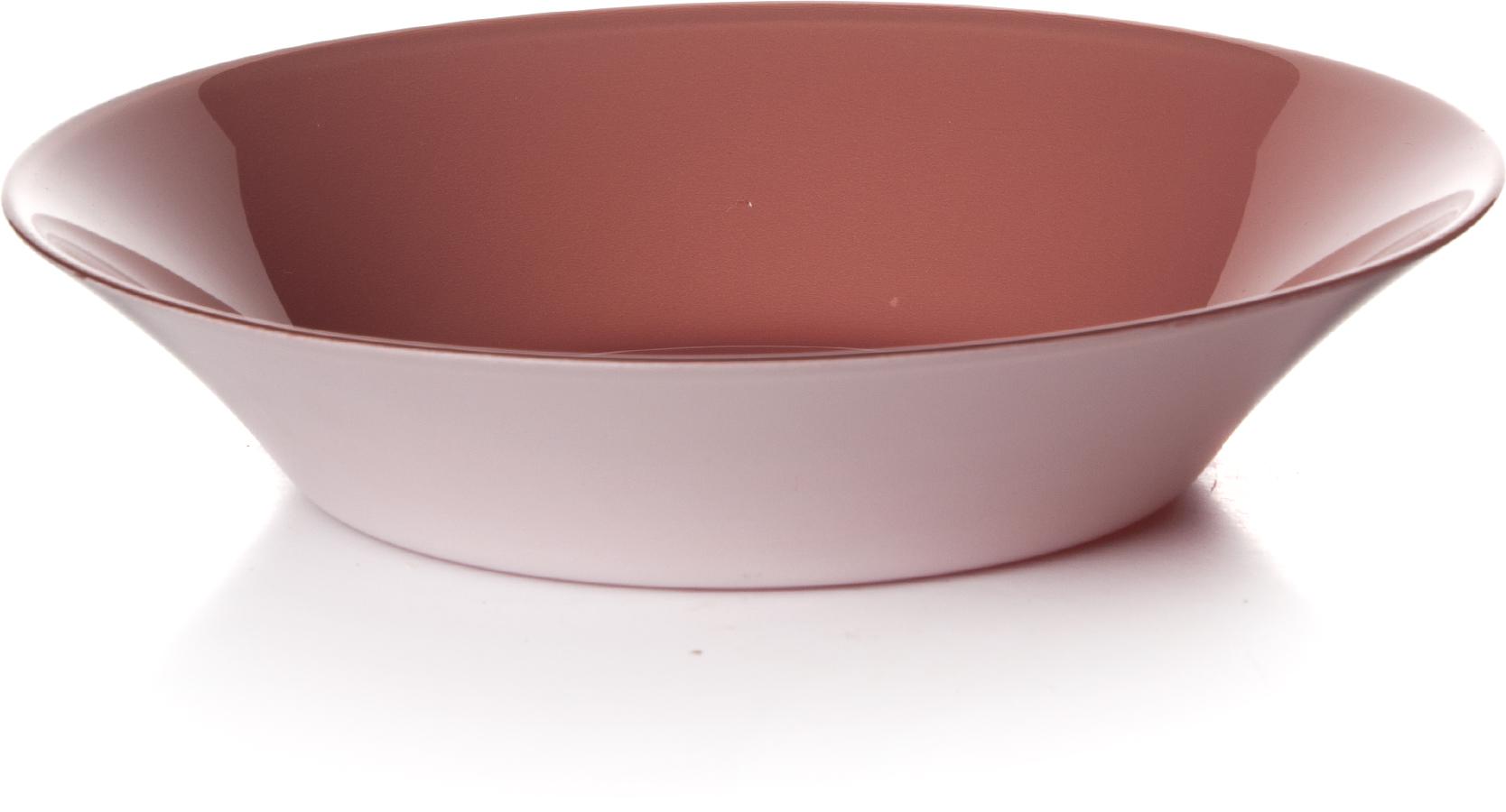 Тарелка глубокая Pasabahce Пинк сити, цвет: розовый, диаметр 22 см10335SLBD40Тарелка упрочненная глубокая 220 мл