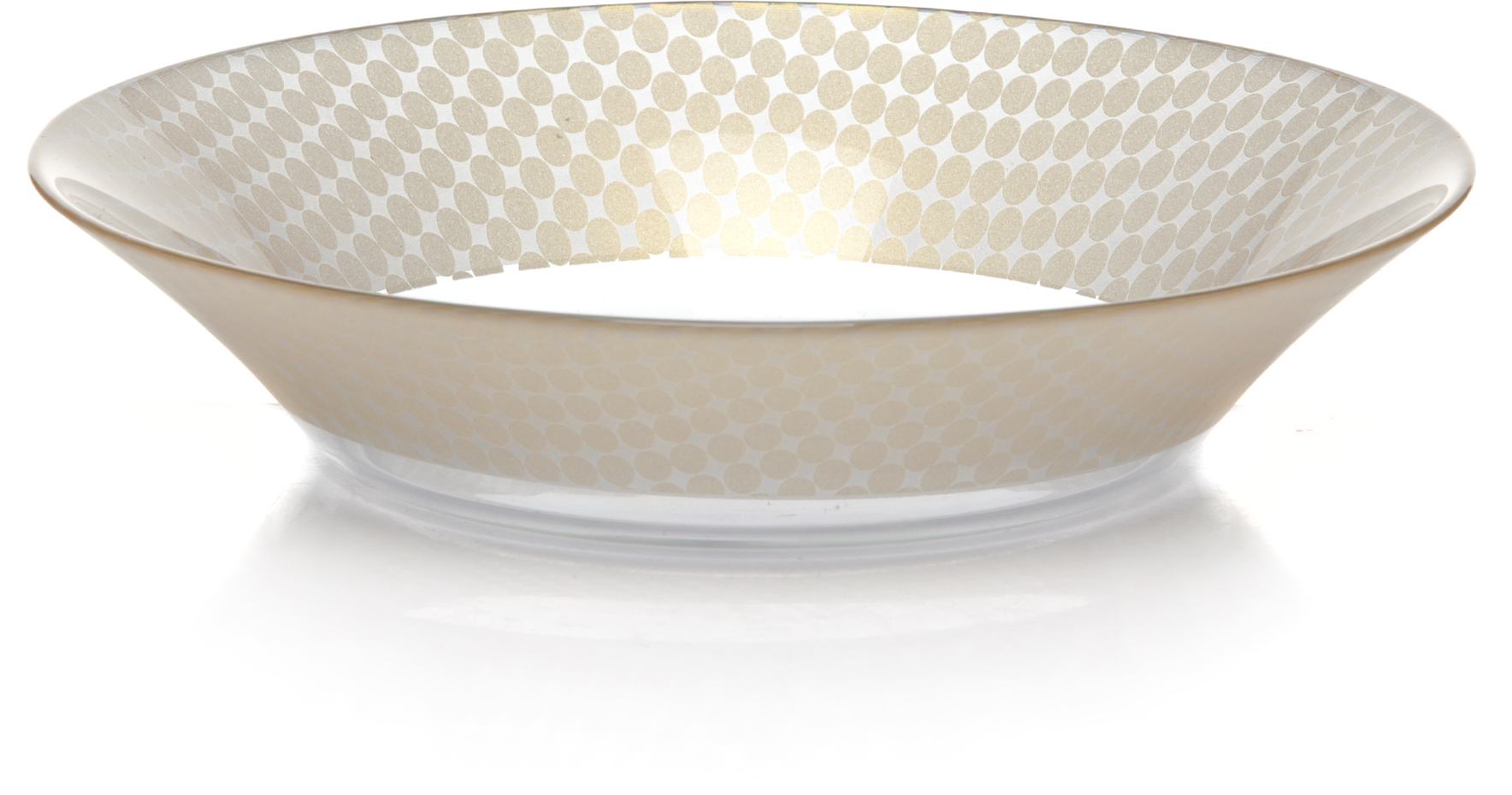 Тарелка глубокая Pasabahce Шарм, цвет: золотой, диаметр 22 см. 10335SLBD5010335SLBD50Тарелка глубокая d=220 мм, 220*220*45 мм