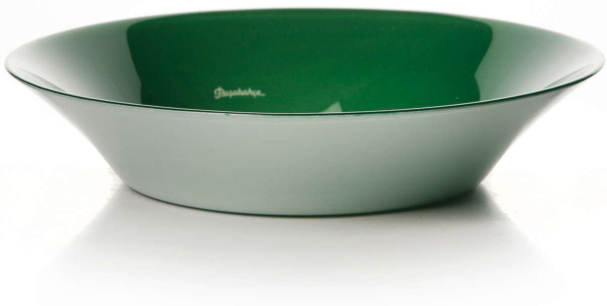 Тарелка глубокая Pasabahce Прованс, цвет: зеленый, диаметр 22 см10335SLBSGТарелка зеленого цвета d= 220 мм h= 47 мм