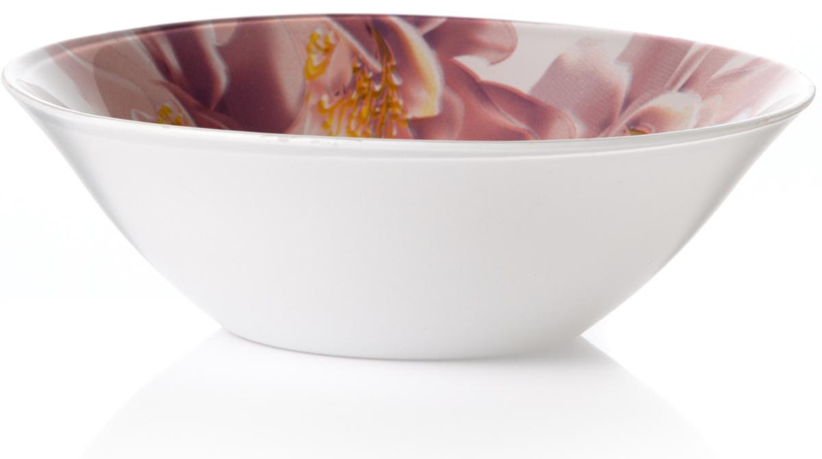 Салатник Pasabahce Уотер лили, цвет: белый, диаметр 14 см10414SLBD21Салатник из упроч.стекла УОТЕР ЛИЛИ d=140 мм V=300 мл
