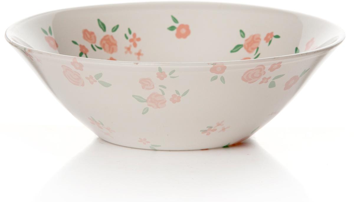Салатник Pasabahce Прованс, цвет: белый, розовый, диаметр 14 см10414SLBSСалатник Pasabahce Прованс изготовлен из закаленного стекла белого цвета и оформлен изображением розовых цветов. Такой салатник украсит сервировку вашего стола и подчеркнет прекрасный вкус хозяина, а также станет отличным подарком.Можно мыть в посудомоечной машине и использовать в микроволновой печи.