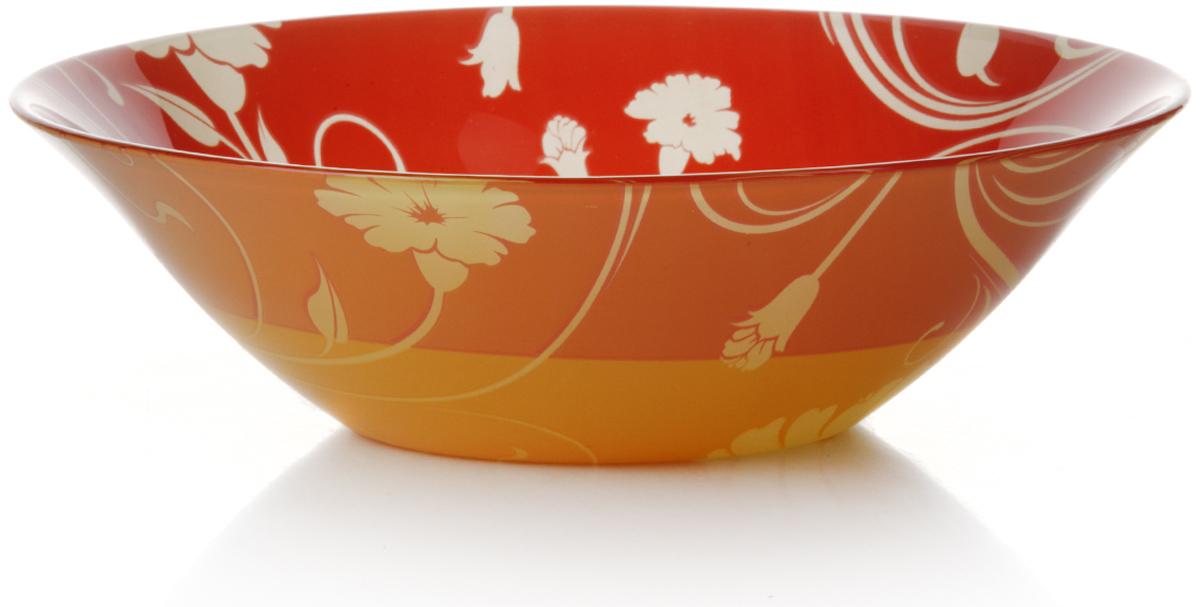 Салатник Pasabahce Оранж серенейд, цвет: оранжевый, диаметр 23 см10415SLBD1Салатник Pasabahce Оранж серенейд изготовлен из закаленного стекла и оформлен изображением цветов. Такой салатник украсит сервировку вашего стола и подчеркнет прекрасныйвкус хозяина, а также станет отличным подарком.Можно мыть в посудомоечной машине и использовать в микроволновой печи.