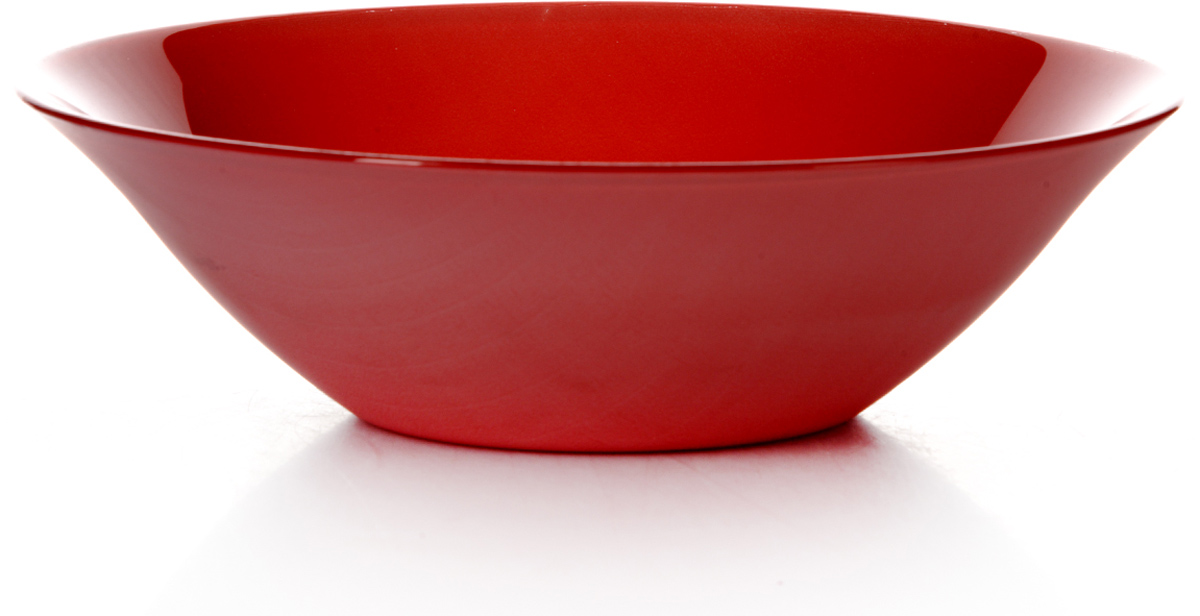 Салатник Pasabahce Рэд виллаж, цвет: красный, диаметр 23 см10415SLBD20Салатник красного цвета d=230 мм, 230*230*65 мм