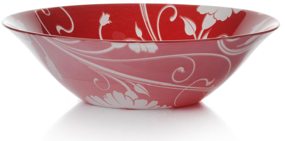 Салатник Pasabahce Рэд серенейд, цвет: красный, диаметр 23 см10415SLBD3Салатник Pasabahce Рэд серенейд изготовлен из закаленного стекла и оформлен изображением цветов. Такой салатник украсит сервировку вашего стола и подчеркнет прекрасныйвкус хозяина, а также станет отличным подарком.Можно мыть в посудомоечной машине и использовать в микроволновой печи.