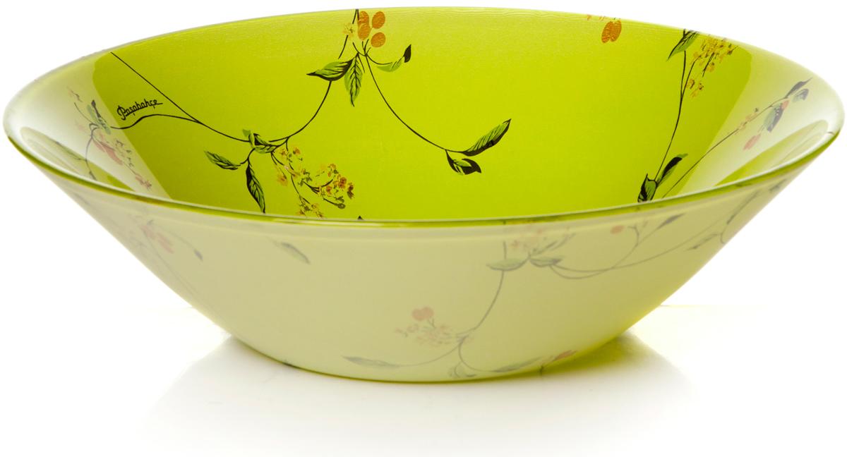 Салатник Pasabahce Барбарис, цвет: салатовый, диаметр 23 см