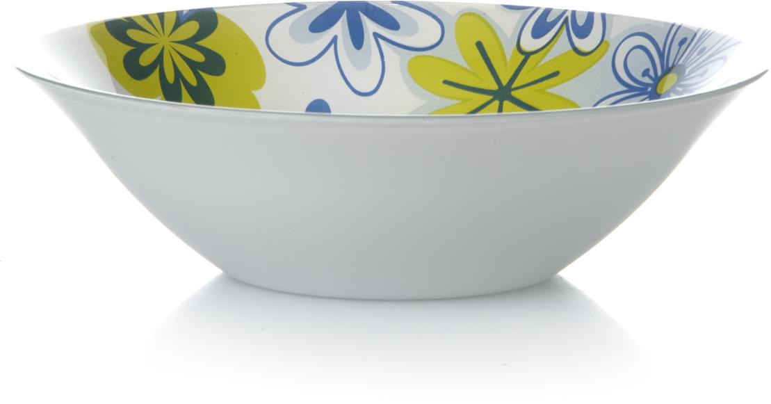 Салатник Pasabahce Спринг, цвет: белый, желтый, синий, диаметр 23 см10415SLBD4Салатник Pasabahce Спринг изготовлен из закаленного стекла Invitation и оформлен изображением цветов. Такой салатник украсит сервировку вашего стола и подчеркнет прекрасный вкус хозяина, а также станет отличным подарком.Можно мыть в посудомоечной машине и использовать в микроволновой печи.