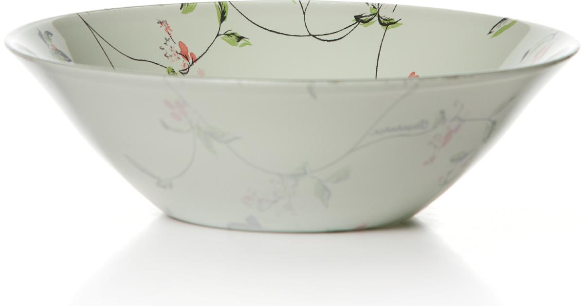 Салатник Pasabahce Барбарис, цвет: белый, диаметр 16,2 см10533SLBD31Салатник Pasabahce Барбарис изготовлен из упрочненного силикатного стекла. Салатник прекрасно подходит для подачи салатов, закусоки других блюд, например, мяса.Салатник красиво оформит праздничный стол и удивит вас стильным дизайном.
