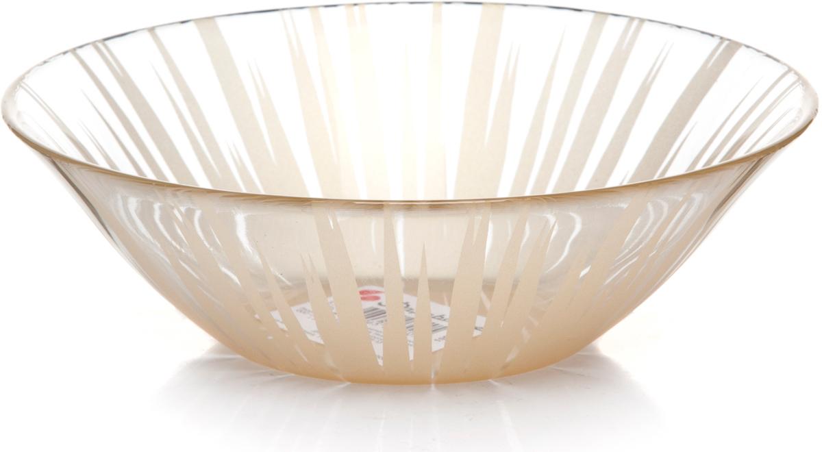 Салатник Pasabahce Шарм, цвет: золотой, диаметр 16,2 см. 10533SLBD5110533SLBD51Салатник Pasabahce Шарм изготовлен из закаленного стекла и оформлен золотистым узором в виде полосок. Такой салатник украсит сервировку вашего стола и подчеркнет прекрасный вкус хозяина, а также станет отличным подарком. Подходит для СВЧ- печей и посудомоечных машин.