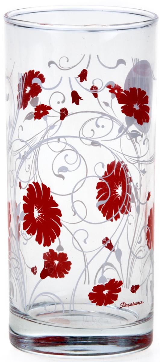 Стакан Pasabahce Рэд серенейд, цвет: прозрачный, красный, 290 мл42402SLBD14Стакан Pasabahce выполнен из прочного силикатного стекла, декорирован ярким рисунком.Идеально подходит для сервировки стола.Стакан не только украсит ваш кухонный стол, но и подчеркнет прекрасный вкус хозяйки.