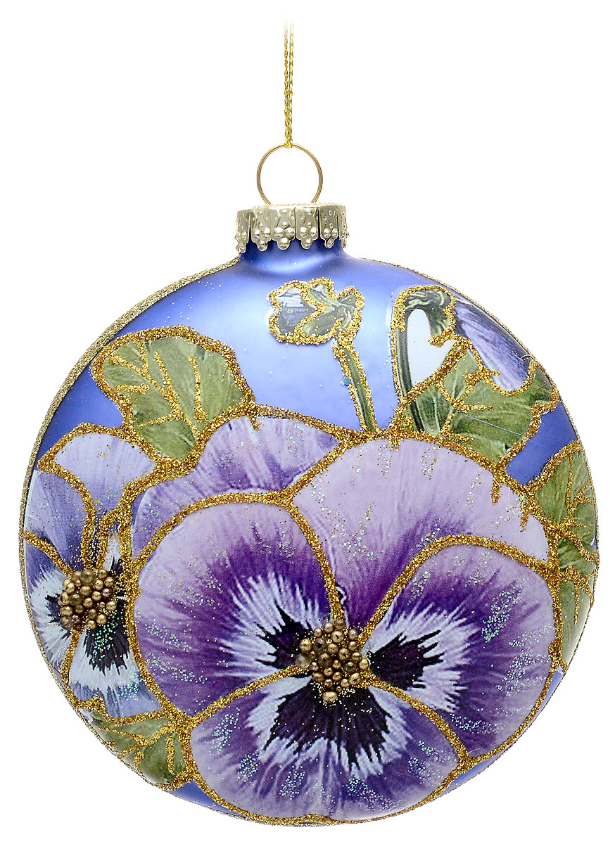 """Украшение новогоднее для интерьера Erich Krause """"Цветочный сад. Медальон"""" выполнено из  матового стекла высокого качества. Лицевая сторона декорирована красочным изображением  цветка, оформленным деликатными блестками. Оборотная сторона изделия украшена  мельчайшим песком золотых блесток.  С помощью специальной петельки украшение можно  повесить в любом понравившемся вам месте.Новогодние украшения всегда несут в себе волшебство и красоту праздника. Создайте в своем доме атмосферу тепла, веселья и радости, украшая его всей семьей."""
