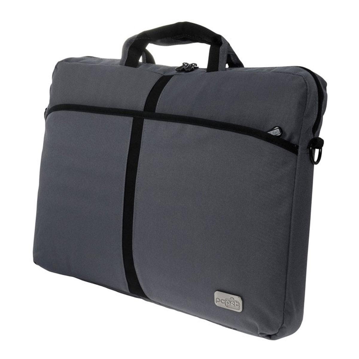 Сумка для ноутбука 17 PC Pet 600D, Grey (PCP-A1317GY) pc pet 600d 15 4