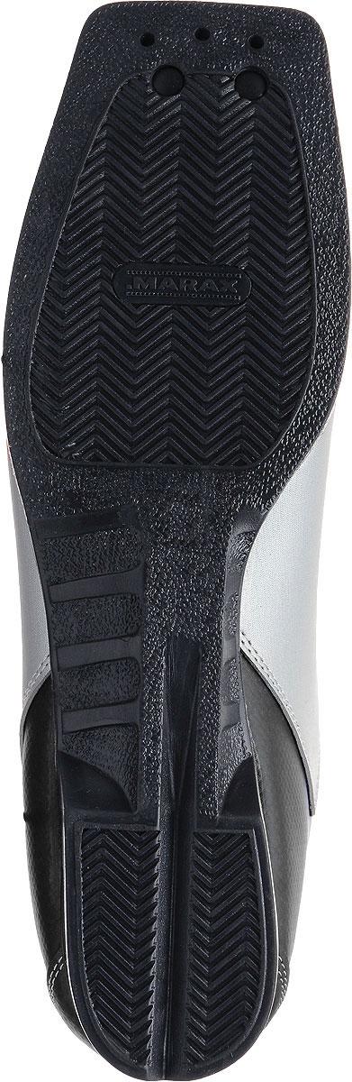 Ботинки лыжные Marax, цвет:  серебристый, синий, черный.  М350.  Размер 43 Marax
