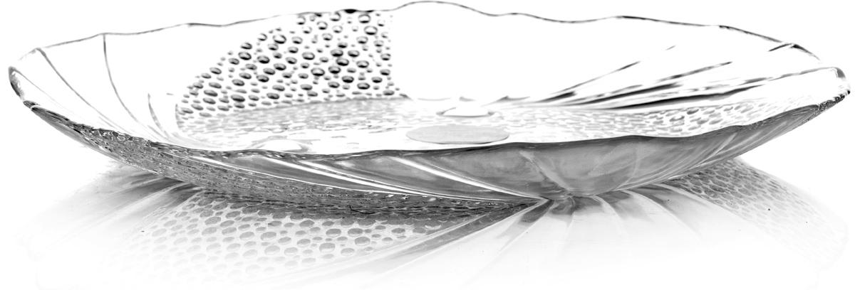 Тарелка Pasabahce Папийон, цвет: прозрачный, диаметр 24 см10279SLBТарелка прозрачная с узором, d=240 мм
