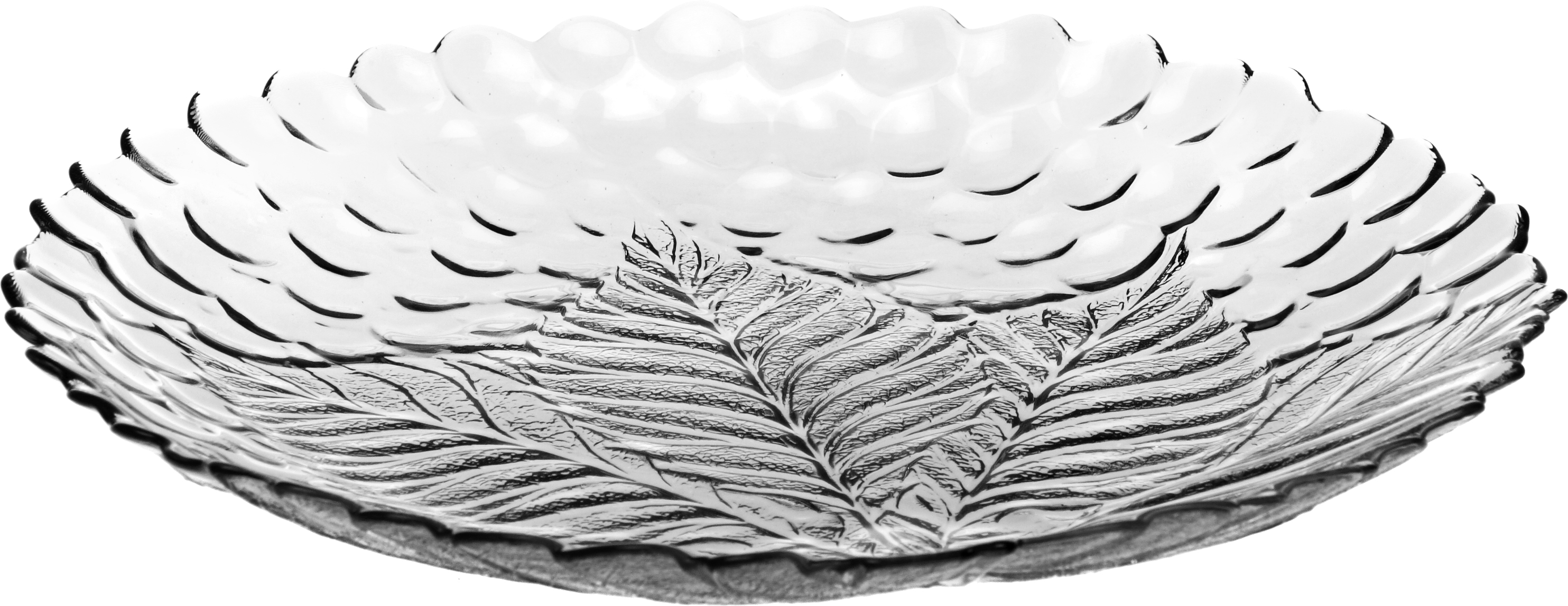 Тарелка Pasabahce Султана, цвет: прозрачный, диаметр 24 см10288SLBТарелка SULTANA d=240 мм (прозрачное рифленое стекло)