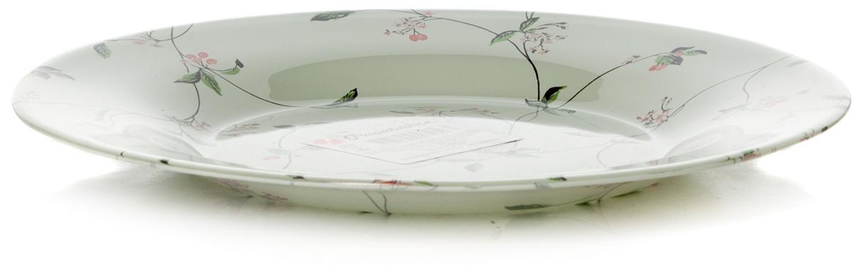 Тарелка Pasabahce Барбарис, цвет: белый, диаметр 19,5 см10327SLBD31Тарелка из упроч.стекла d=195 мм, рис. БАРБАРИС