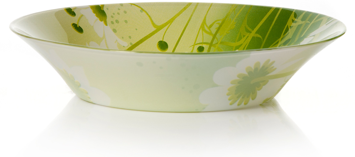 Тарелка глубокая Pasabahce Камилла, цвет: белый, диаметр 22 см10335SLBD22Тарелка глубокая, d=220 мм, 220*220*47 мм