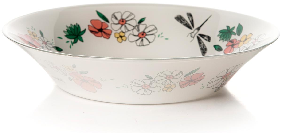 Тарелка глубокая Pasabahce Нейчер, цвет: белый, диаметр 22 см тарелка глубокая из упрочненного стекла нейчер диаметр 220 мм 1153328