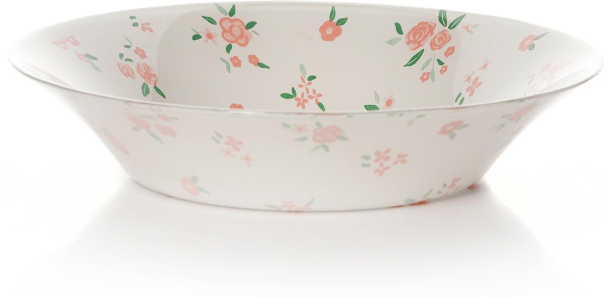 Тарелка глубокая Pasabahce Прованс, цвет: белый, диаметр 22 см10335SLBSWТарелка белого цвета с рис.цветы d= 220 мм h= 47 мм