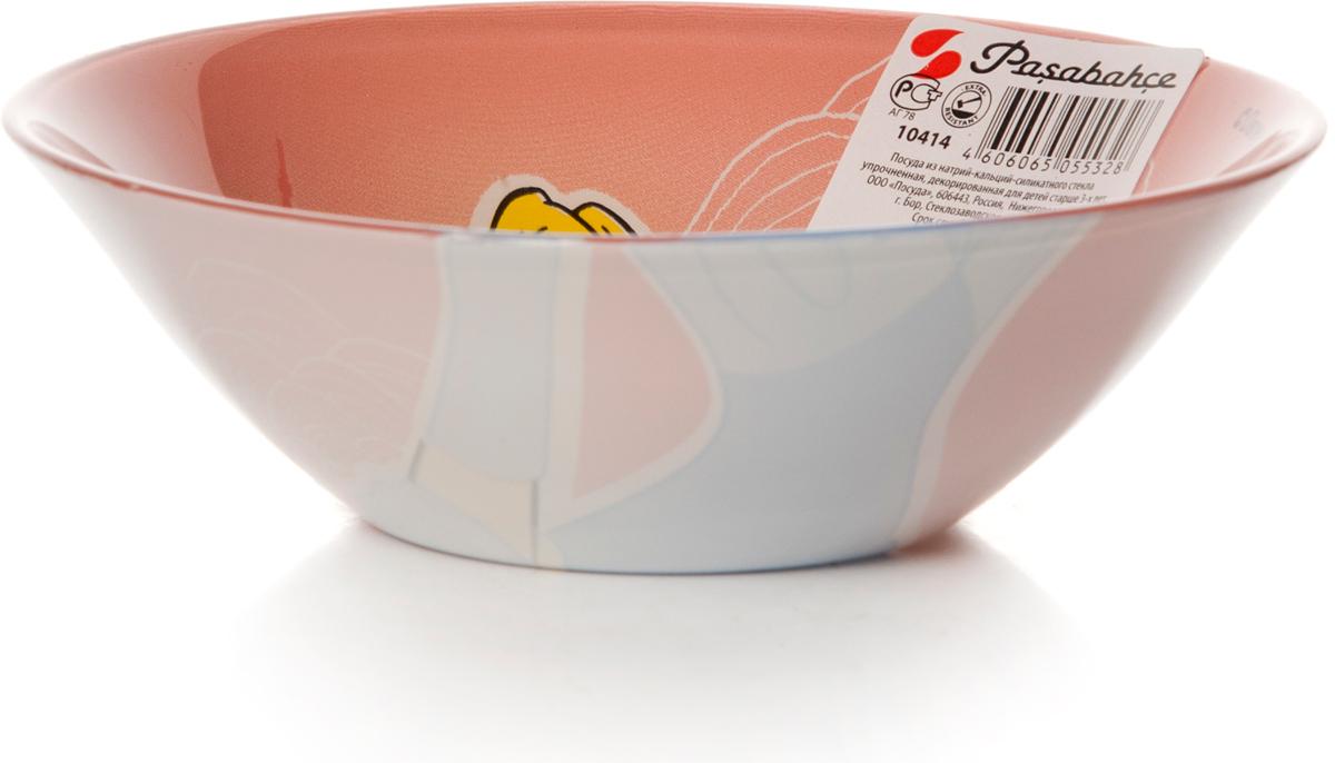 Салатник Pasabahce Золушка, цвет: розовый, диаметр 14 см пена top house д плит свч печей 500мл