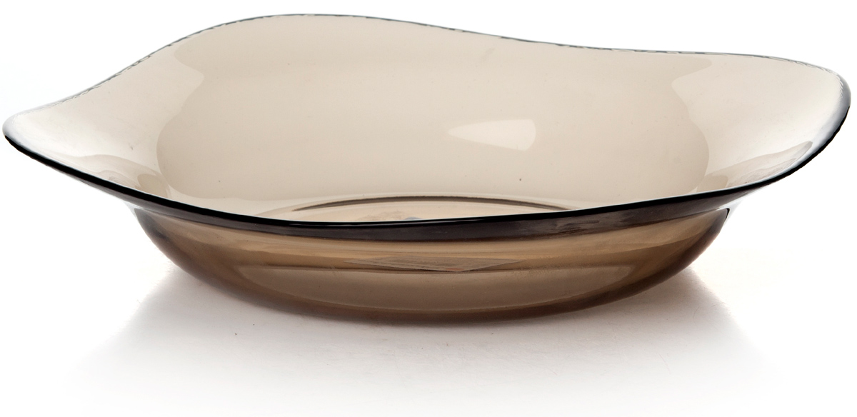 Тарелка глубокая Pasabahce Броунз, цвет: коричневый, диаметр 21,5 см10496SLBZТарелка глубокая из упроч.стекла 215*215 мм