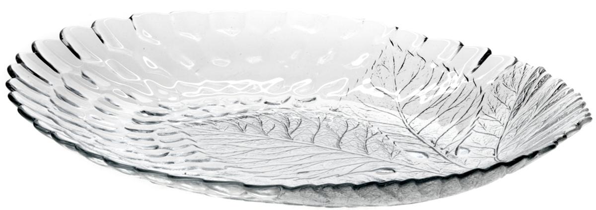 Тарелка Pasabahce Султана, цвет: прозрачный, 18 х 23 см10292SLBОвальное блюдо SULTANA 188*240 мм (прозрачное рифленое стекло овальной формы)