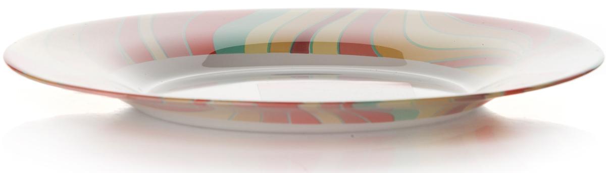 Тарелка Pasabahce Удовольствие. Домашний, цвет: белый, диаметр 19,5 см10327SLBD11Тарелка Pasabahce изготовлена из упрочненного закаленного натрий-кальций- силикатного стекла с повышенной термостойкостью.