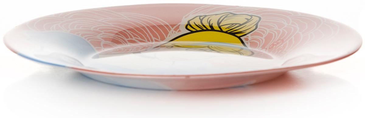 Тарелка Pasabahce Золушка, цвет: розовый, диаметр 19,5 см10327SLBD28Тарелка из упрочненного стекла d=195 мм, рис.Золушка (для детей старше 3-х лет)