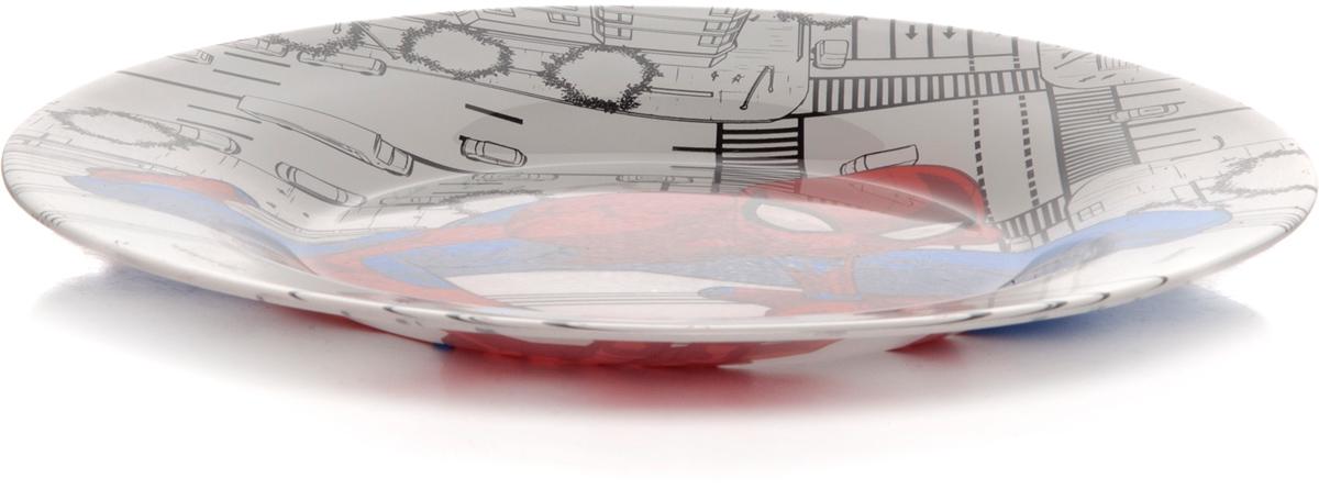 Тарелка Pasabahce Человек-Паук, цвет: серый, диаметр 19,5 см. 10327SLBD4710327SLBD47Тарелка упроч.детская с рис. ЧЕЛОВЕК-ПАУК d=195 мм