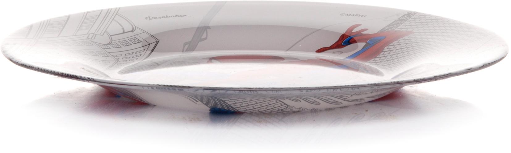 Тарелка Pasabahce Человек-Паук, цвет: серый, диаметр 19,5 см. 10327SLBD4910327SLBD49Тарелка упроч.детская с рис. ЧЕЛОВЕК-ПАУК d=195 мм