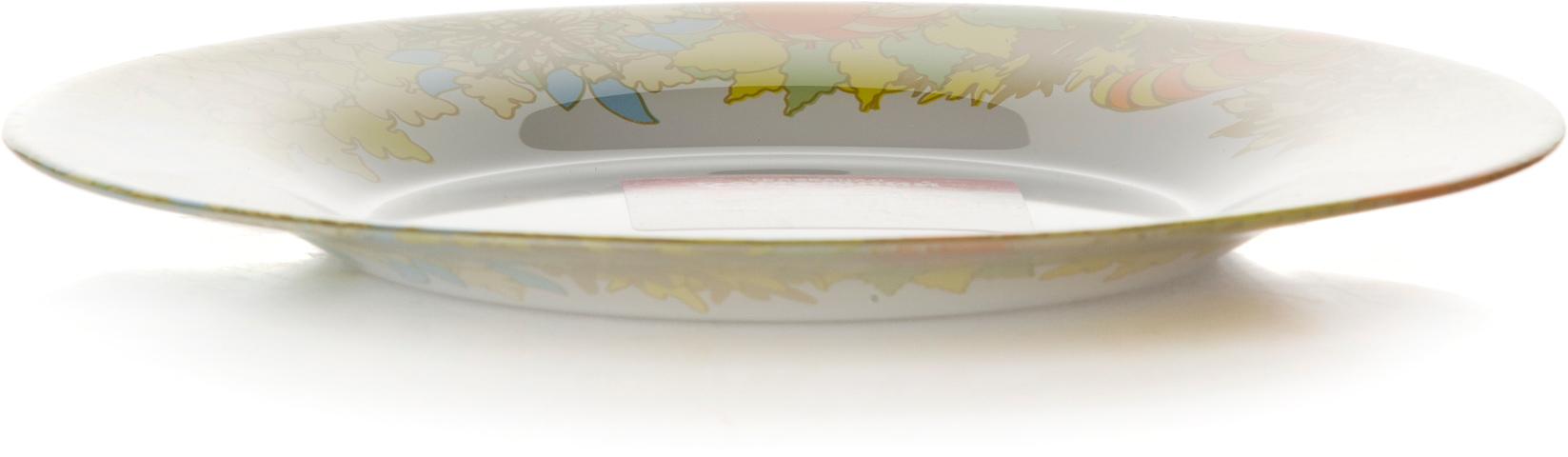Тарелка Pasabahce Семья. Домашний, цвет: белый, диаметр 19,5 см pasabahce