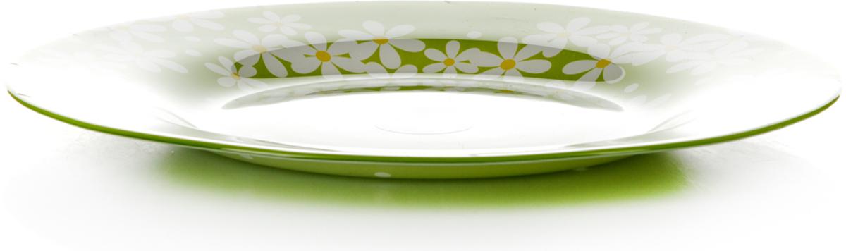 Тарелка Pasabahce Грин гарден, цвет: салатовый, диаметр 26 см10328SLBD17Тарелка Pasabahce изготовлена из упрочненного закаленного натрий-кальций- силикатного стекла с повышенной термостойкостью.