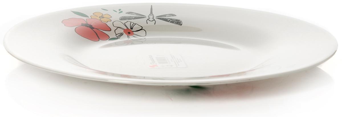 Тарелка Pasabahce Нейчер, цвет: белый, диаметр 26 см