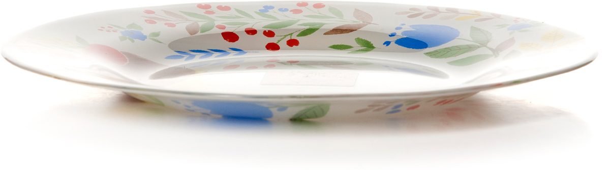 Тарелка Pasabahce Фейритейл, цвет: белый, диаметр 26 см тарелка обеденная terracotta дерево жизни диаметр 26 см