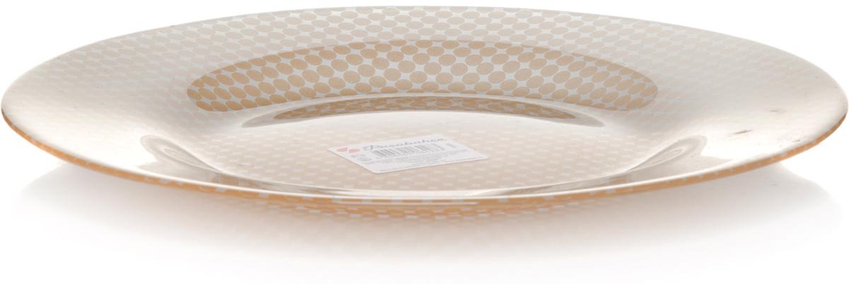 Тарелка Pasabahce Шарм, цвет: золотой, диаметр 26 см тарелка обеденная terracotta дерево жизни диаметр 26 см