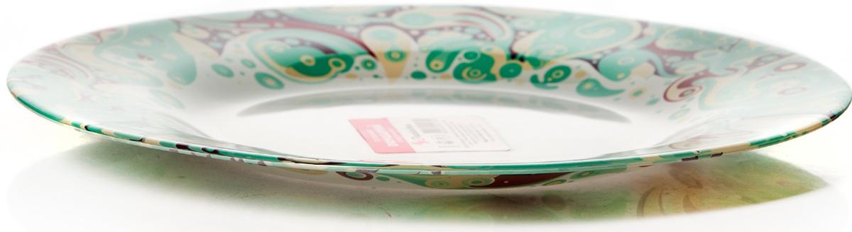 Тарелка Pasabahce Красота. Домашний, цвет: белый, диаметр 26 см фонарь велосипедный bbb spy 17 lumen передний цвет черный 2 x cr2032