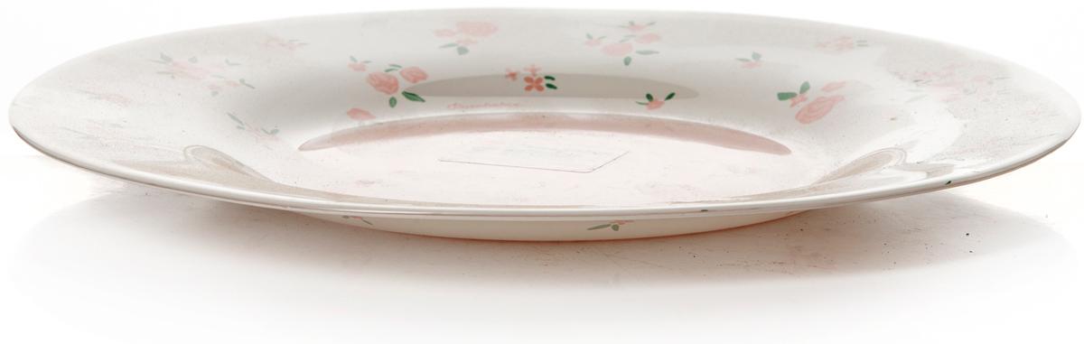 Тарелка Pasabahce Прованс, цвет: белый, диаметр 26 см10328SLBSТарелка обеденная d=260 мм рис.Цветы мелкие розовые на белом фоне