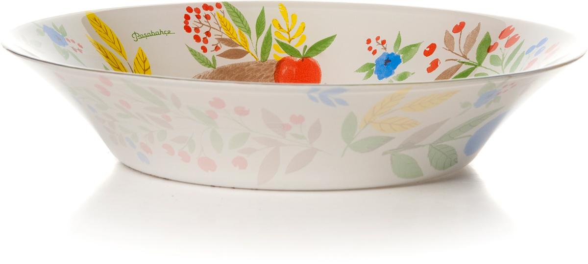 Тарелка глубокая Pasabahce Фейритейл, цвет: белый, диаметр 22 см10335SLBD28Тарелка глубокая из упрочн.стекла d=220 мм , рис. Ежик/цветы/ягоды