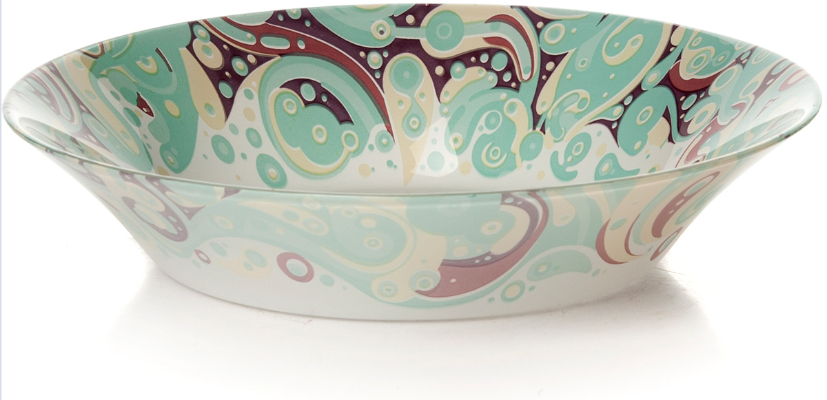 Тарелка глубокая Pasabahce Красота. Домашний, цвет: белый, диаметр 22 см pasabahce