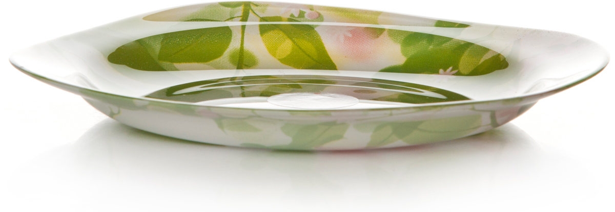 Тарелка Pasabahce Баттерфлайс, цвет: белый, диаметр 18,5 см10468SLBDТарелка из упроч.стекла БАТТЕРФЛАЙС 185*185 мм