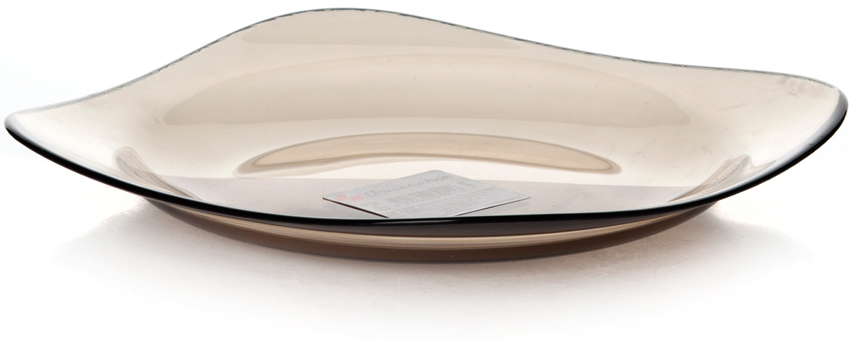 Тарелка Pasabahce Броунз, цвет: коричневый, диаметр 18,5 см10468SLBZТарелка десертная из упроч.стекла 185*185 мм