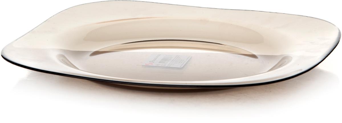 Тарелка Pasabahce Броунз, цвет: коричневый, диаметр 26 см. 10519SLBZT10519SLBZTТарелка упрочненная бронзовая 260*260 мм