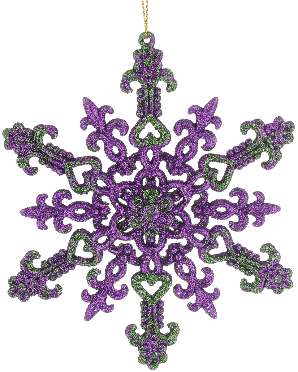 Новогоднее украшение для интерьера Erich Krause Снежинка кружевная, цвет: фиолетовый, 12,5 см40322_фиолетовый_вид1Снежинка насыщенного фиолетового цвета привлекает внимание своей ажурной конструкцией. Подходит для украшения елки и помещения. Яркий цвет дополняют красочные блестки, завораживающие своим сиянием. Новогодние украшения всегда несут в себе волшебство и красоту праздника. Создайте в своем доме атмосферу тепла, веселья и радости, украшая его всей семьей.