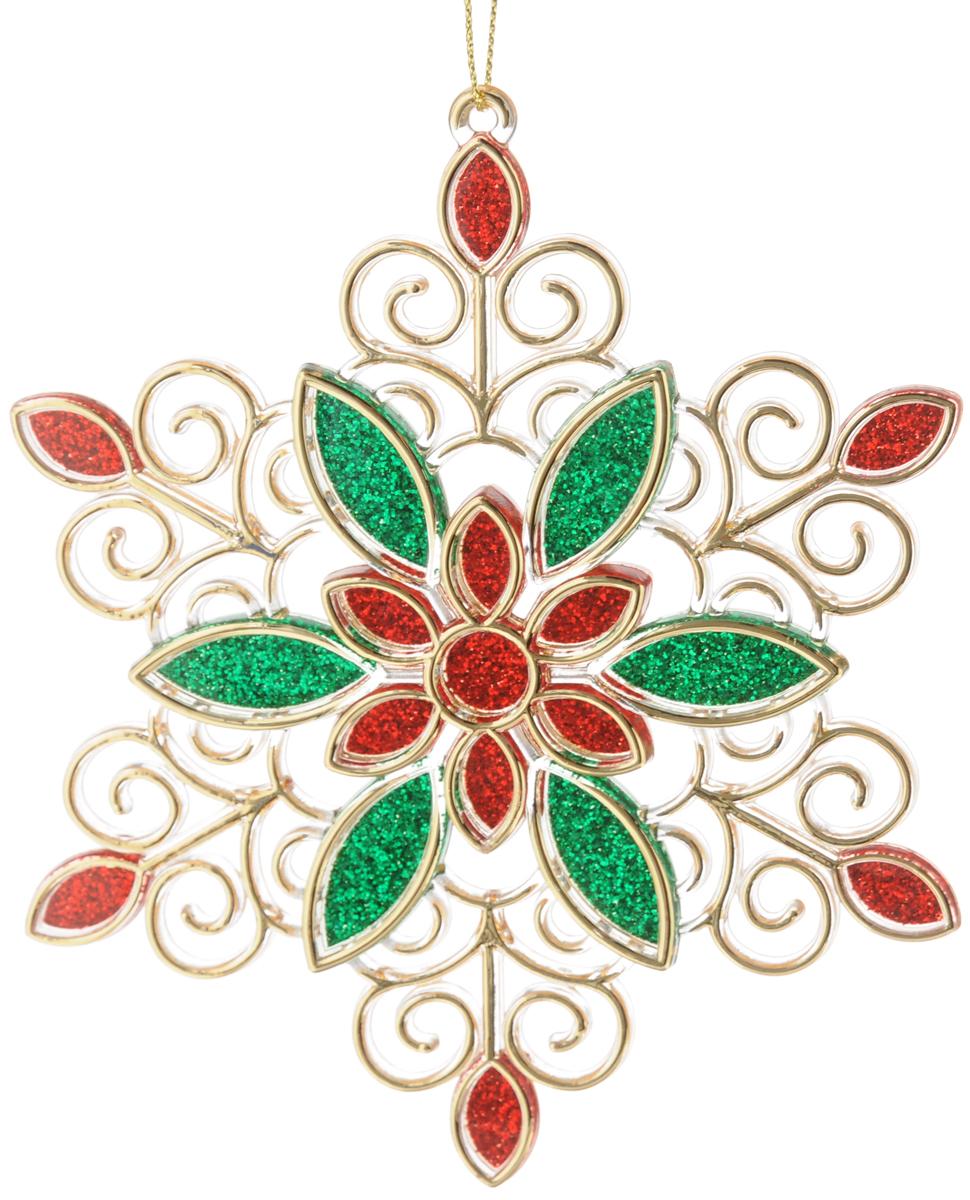 Новогоднее украшение для интерьера Erich Krause Снежинка праздничная, вид 2, 13 см43458_красный,зеленый_вид1Нарядная снежинка отличается деликатным цветочным узором, а также насыщенными новогодними цветами - зеленым, красным и благородно золотым. Новогодние украшения всегда несут в себе волшебство и красоту праздника. Создайте в своем доме атмосферу тепла, веселья и радости, украшая его всей семьей.
