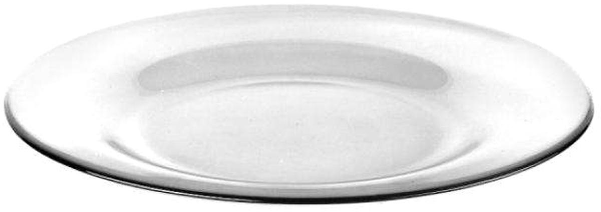 Тарелка Pasabahce Invitation, цвет: прозрачный, диаметр 26 см10328SLBТарелка из закаленного стекла INVITATION d=260 мм (прозрачное стекло)