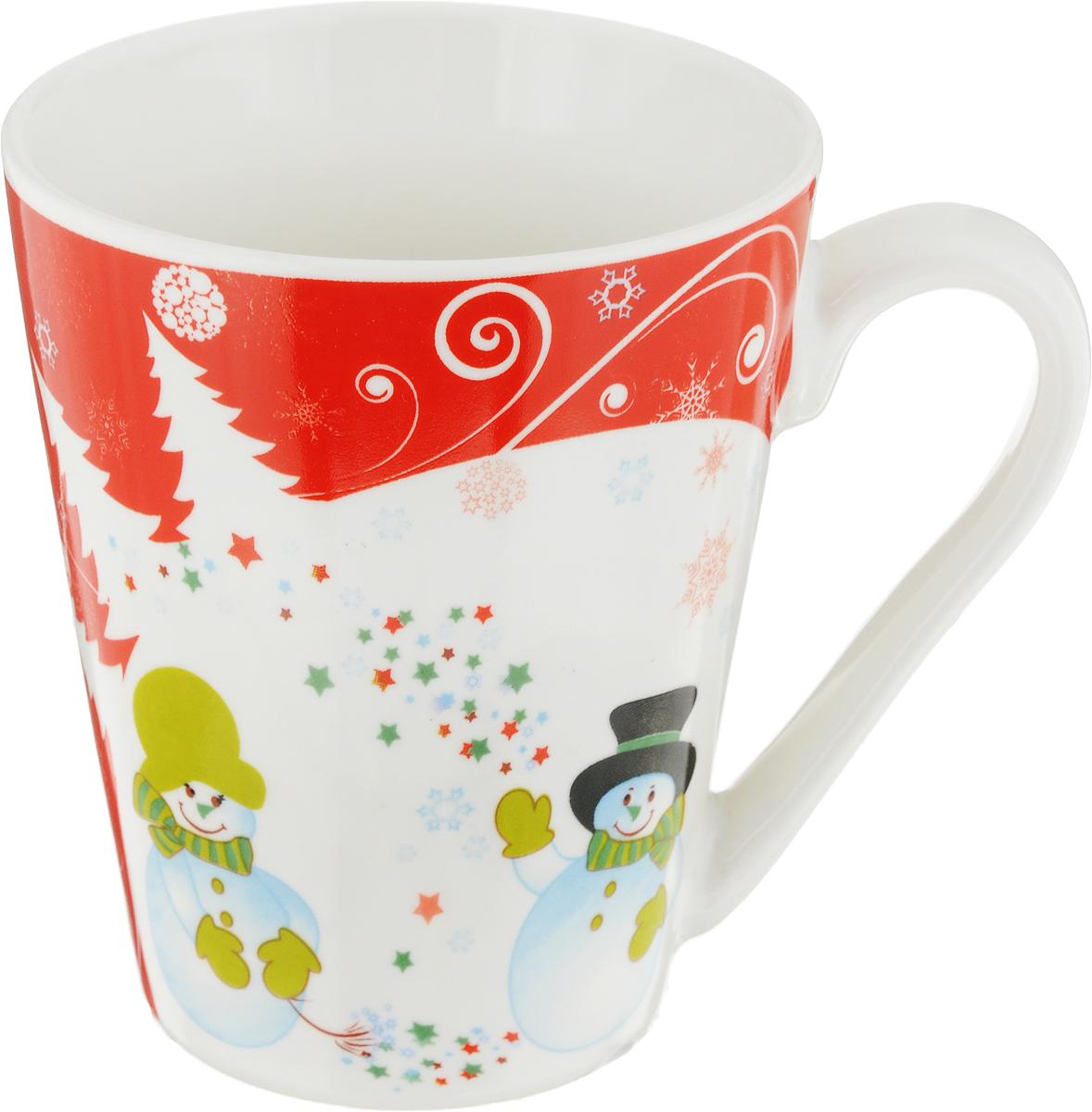 """Фарфоровые кружки """"Home Star"""" с новогодними декорами, с изображением снеговиков на белом фарфоре. Кружка имеет удобную ручку и устойчивое основание. Все фарфоровые кружки """"Home Star"""" можно использовать в СВЧ и мыть в посудомоечной машине."""