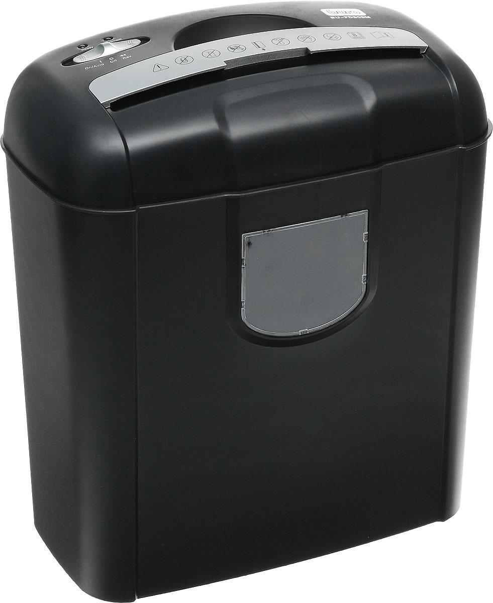 Шредер Buro FD508MFD508MПерсональный шредер на 8 листов Buro FD508M предназначен для быстрого и эффективного уничтожения бумагив процессе делопроизводства. Данная модель имеет съемный режущий блок, а также вместительную корзинуобъемом 14 литров. Время непрерывной работы составляет 2 минуты (перерыв 30 минут). Помимо основнойфункции, устройство также может перерабатывать степлерные скобы и кредитные карты. Класс секретности: уровень 3 Уровень секретности по DIN 66399: P-4