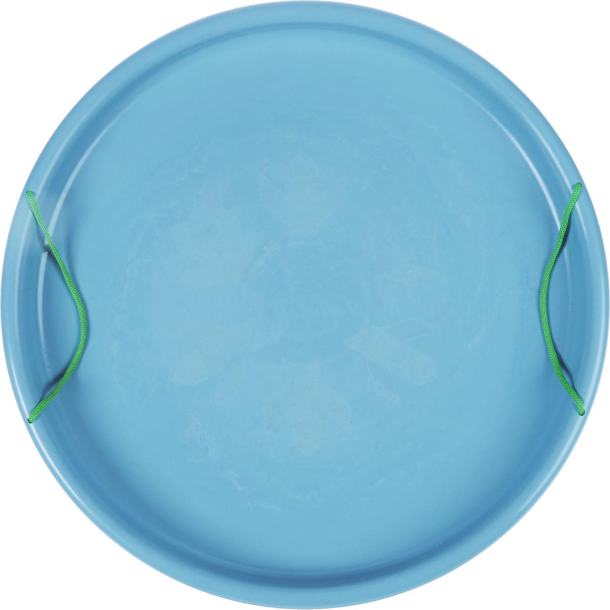 Ледянка Престиж Экстрим, с ручками, цвет: голубой, диаметр 54 см36456Круглая ледянка Престиж Экстрим выполнена из пластика. Удобные ручки-веревки позволят управлять направлением спуска, а также помогут удержать баланс и избежать неприятных последствий падения.Такая ледянка отлично подойдет для любителей зимних спортивных развлечений.