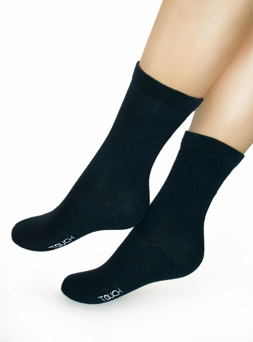 Носки для мальчика Touch Gold Будущему защитнику, цвет: черный. 077. Размер 32/34 (20/22) носки для девочки touch gold цвет розовый 129 размер 20 22