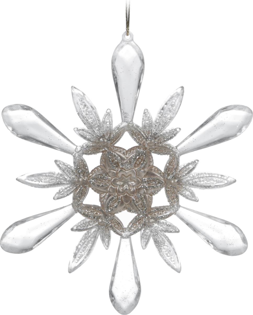 Украшение для интерьера новогоднее Erich Krause Кристальный звон, 13,5 см38156Деликатную прозрачность снежинки подчеркивают золотые вкрапления. Смотрится изысканно. Новогодние украшения всегда несут в себе волшебство икрасоту праздника. Создайте в своем доме атмосферу тепла, веселья и радости, украшая еговсей семьей.