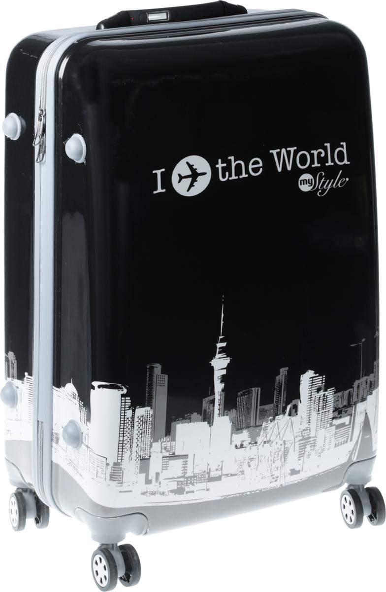 Чемодан Proffi Ретро, со встроенными весами, цвет: серый, 100 л чемоданы proffi чемодан ретро
